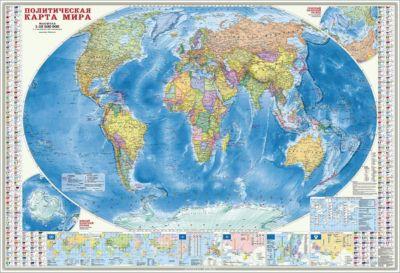 Фото - ГеоДом Карта настенная Геодом «Мир Политический+Инфографика» пазлы геодом карта пазл россия политическая 260 деталей