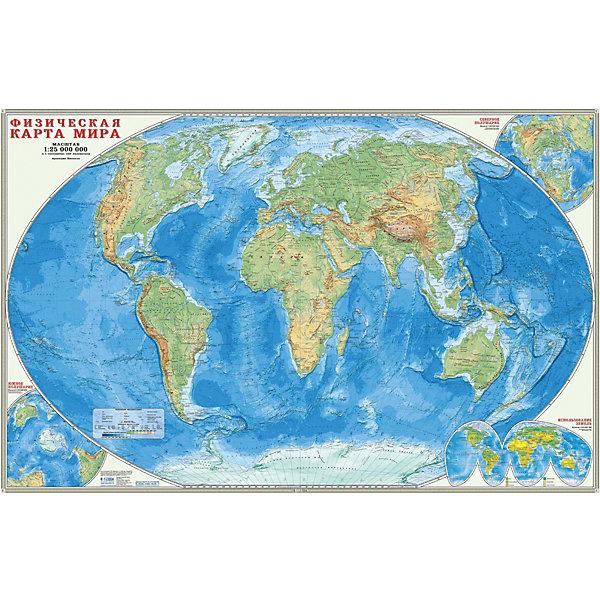 ГеоДом Карта настенная Геодом «Мир Физический»