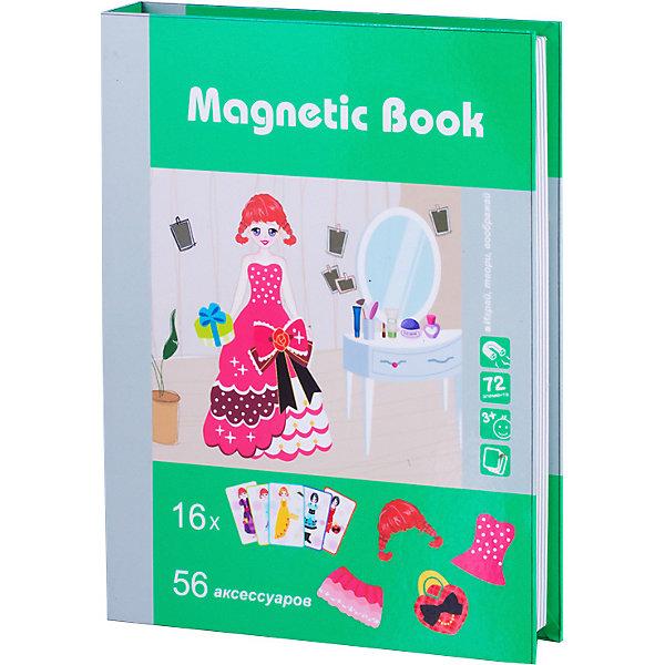 Развивающая игра Magnetic Book На балОбучающие игры для дошкольников<br>Характеристики:<br><br>• материал: пластик<br>• в наборе: книга с магнитным полем, 16 игровых карт, 56 элементов<br><br>Игра в виде книги может подарить ребенку много положительных эмоций и способствовать его развитию. В процессе занятий с набором необходимо составить изображение, повторяя игровую карту, или самостоятельно подбирать наряды, прически и аксессуары для моделей, собирающихся на бал. Магнитная крышка книги служит игровым полем. Игры с набором могут способствовать развитию логического мышления, визуальному восприятию формы и цвета, воображения, мелкой моторики рук и усидчивости.