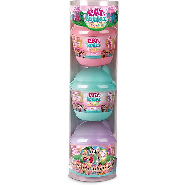 Плачущий младенец IMC Toys Cry Babies Magic Tears, с домиком и аксессуарамиКуклы-пупсы<br>Характеристики:<br><br>• материал: пластик<br>• в наборе: мини-кукла, домик-бутылочка, 6 аксессуаров (пустышка, бутылочка, бант и стульчик, + 2 персональных)<br>• особенности: в ассортименте<br>• страна бренда: Испания<br><br>Домик-бутылочка состоит из двух частей. В одной их них находится мини-кукла с выразительными глазками. На другой стороне изображен интерьер, отражающий характер персонажа. Кукла умеет плакать. Для этого нужно удалить пустышку с маленькой бутылочки, вставить игрушке в ротик и нажать ей на живот. Какой именно набор попадется коллекционеру можно увидеть только после вскрытия упаковки.<br><br>Внимание! Товар в ассортименте без возможности выбора.
