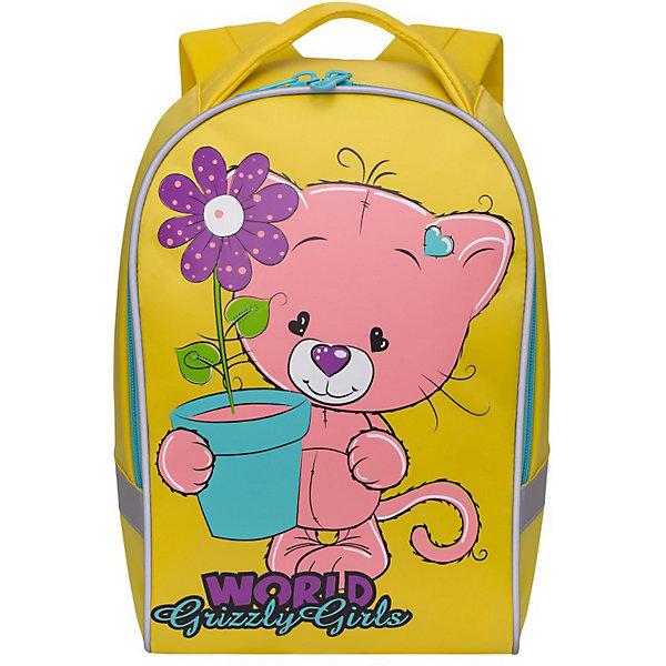 Купить Рюкзак детский Grizzly, желтый, Россия, Унисекс