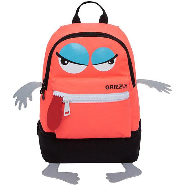 Купить Рюкзак детский Grizzly, оранжевый, Китай, Унисекс