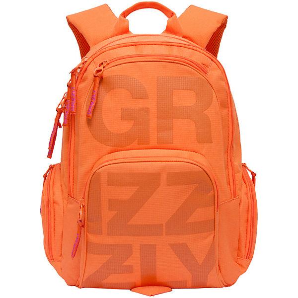 Купить Рюкзак Grizzly, оранжевый, Россия, Унисекс