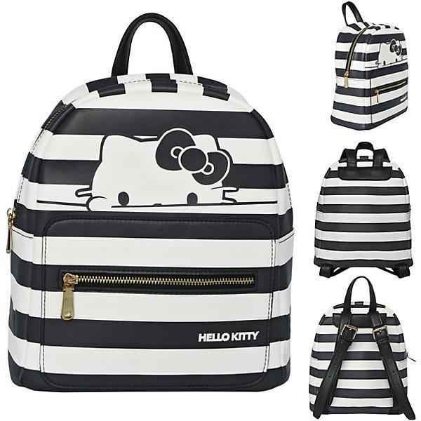 ACTION! Рюкзак-мини HELLO KITTY, размер 28х24х12 см, черно-белая полоска, иск.кожа,для девочек