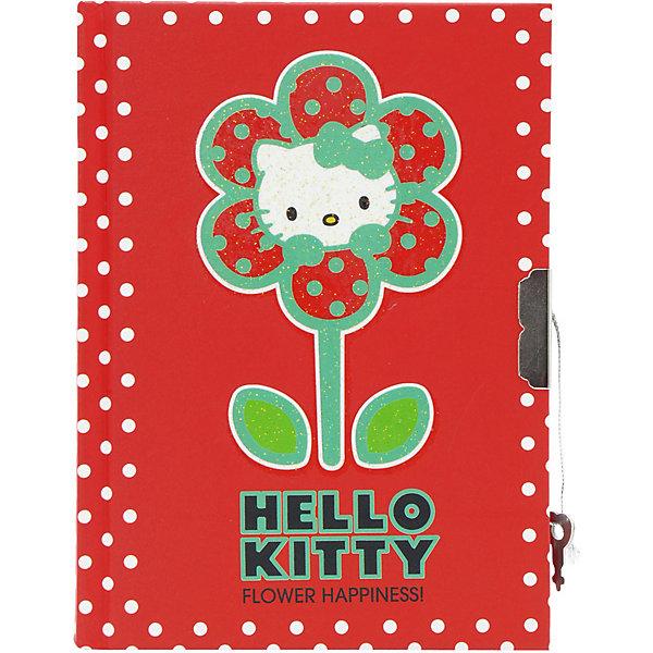 ACTION! Блокнот с замком ACTION!, Hello Kitty, твердая обложка, пакет дневник action д млад классов романтика твердая обложка глянцевая ламинация