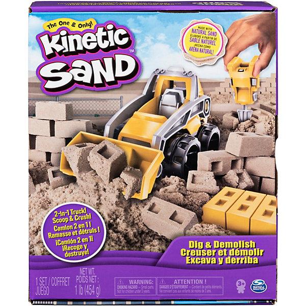 Набор для лепки Kinetic Sand Экскаватор от Spin Master