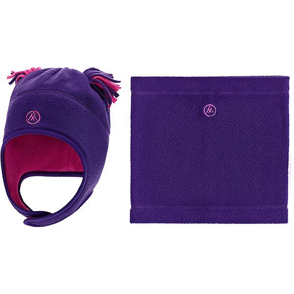 Купить Комплект: шапка и шарф-снуд Premont для девочки, Китай, лиловый, 52-53, 53-54, 51, 50, Женский