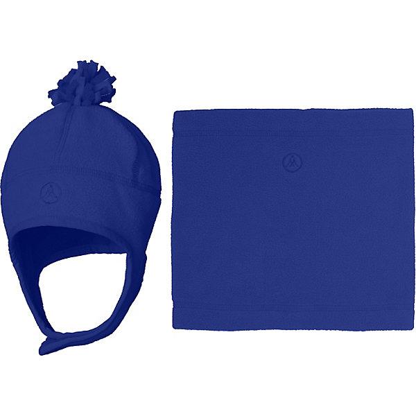 Купить Комплект: шапка и шарф-снуд Premont для мальчика, Китай, синий, 52-53, 51, 50, 53-54, Мужской