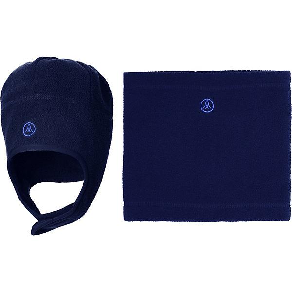 Купить Комплект: шапка и шарф-снуд Premont для мальчика, Китай, синий, 52-53, 51, 53-54, 50, Мужской