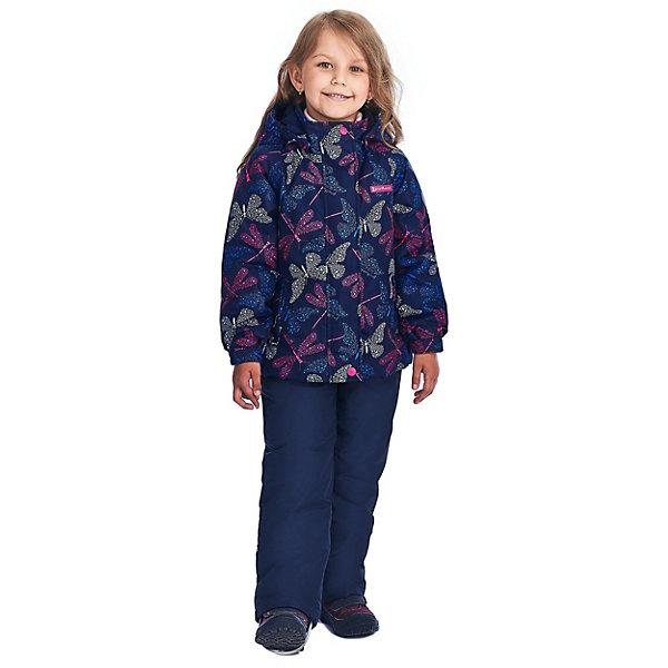 "Комплект Premont ""Бабочки Вуда"": куртка и брюки для девочки, Синий"