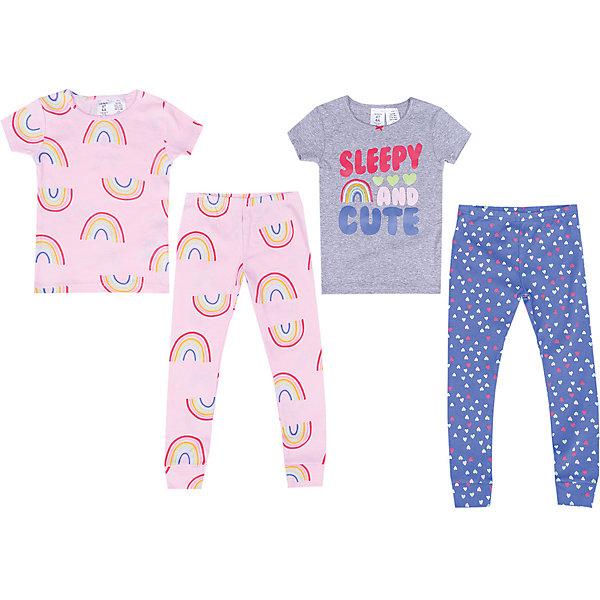 Пижама Carter's, 2 штПижамы и сорочки<br>Характеристики товара:<br><br>• состав ткани: 100% хлопок<br>• сезон: круглый год<br>• страна бренда: США<br><br>В комплекте две пижамы, состоящие из футболок с короткими рукавами и брюк с манжетами по низу. Обеспечивают удобство и комфорт во время сна. Модели изготовлены из натуральной ткани и хорошо дышат.