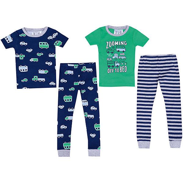 Пижама Carter's, 2 шт.Пижамы и сорочки<br>Характеристики товара:<br><br>• состав ткани: 100% хлопок<br>• сезон: круглый год<br>• страна бренда: США<br><br>В комплекте две пижамы, состоящие из футболок с короткими рукавами и брюк с манжетами по низу. Обеспечивают удобство и комфорт во время сна. Модели изготовлены из натуральной ткани и хорошо дышат.