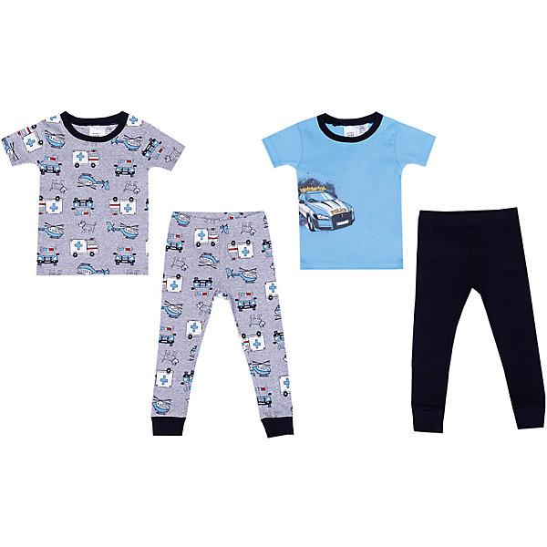 Пижама 2 шт carters для мальчикаПижамы и сорочки<br>Характеристики товара:<br><br>• состав ткани: 100% хлопок<br>• сезон: круглый год<br>• страна бренда: США<br><br>В комплекте две пижамы, состоящие из футболок с короткими рукавами и брюк с манжетами по низу. Обеспечивают удобство и комфорт во время сна. Модели изготовлены из натуральной ткани и хорошо дышат.