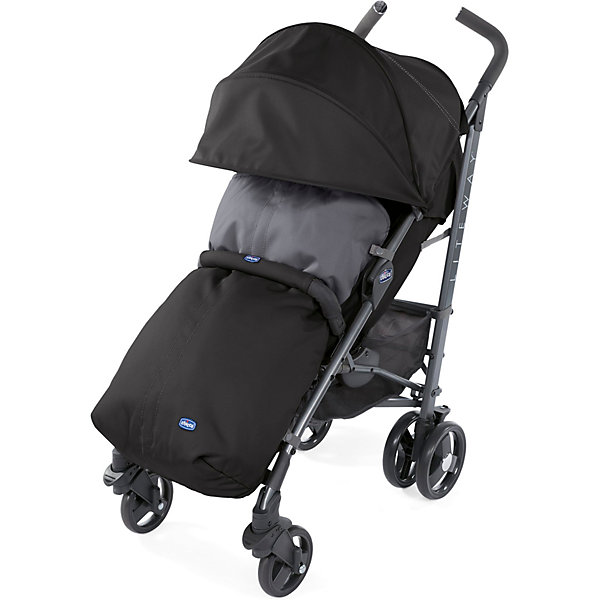 CHICCO Коляска Chicco Lite Way3 Top Jet Black, с бампером