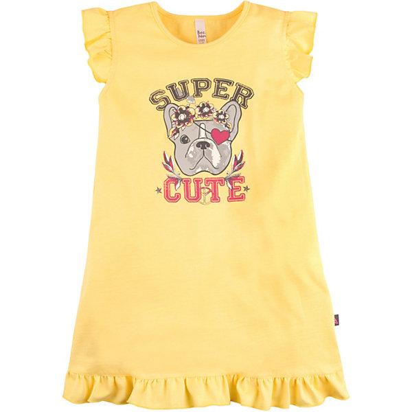 Купить Ночная сорочка Bossa Nova для девочки, Россия, желтый, 104, 140, 128, 116, Женский