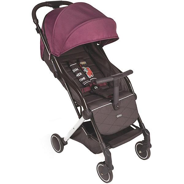 Коляска прогулочная Happy Baby Umma, бордоПрогулочные коляски<br>Характеристики товара:<br><br>• материал: металл, пластик, текстиль<br>• в комплекте: дождевик, москитная сетка, подстаканник<br>• вес коляски: 6 кг<br>• размеры в сложенном виде: 62,2х41,3х28,1 см<br>• размеры в разложенном виде: 75,4х41,3х102,5 см<br>• ширина сиденья: 31 см<br>• глубина сиденья: 20 см<br>• диаметр спального места: 79 см<br>• диаметр передних колёс: 12,5 см<br>• диаметр задних колёс: 14 см<br>• спинка регулируется на 100-170 градусов<br>• регулировка подножки: 2 положения<br>• пятиточечные ремни безопасности<br>• задние колёса с тормозным механизмом<br>• передние поворотные колёса с амортизацией<br>• страна бренда: Великобритания<br><br>Коляска дополнена съёмной ручкой-бампером и легко складывается. Есть выдвижная ручка для удобства перевозки, большой козырёк, корзина для вещей или покупок и смотровое окошко на магните. Небольшой вес делает модель лёгкой и манёвренной. Обеспечивает хорошую проходимость благодаря колёсам, которые поворачиваются на 360 градусов. Сзади расположена сетка, позволяет воздуху циркулировать и не даст малышу выпасть.