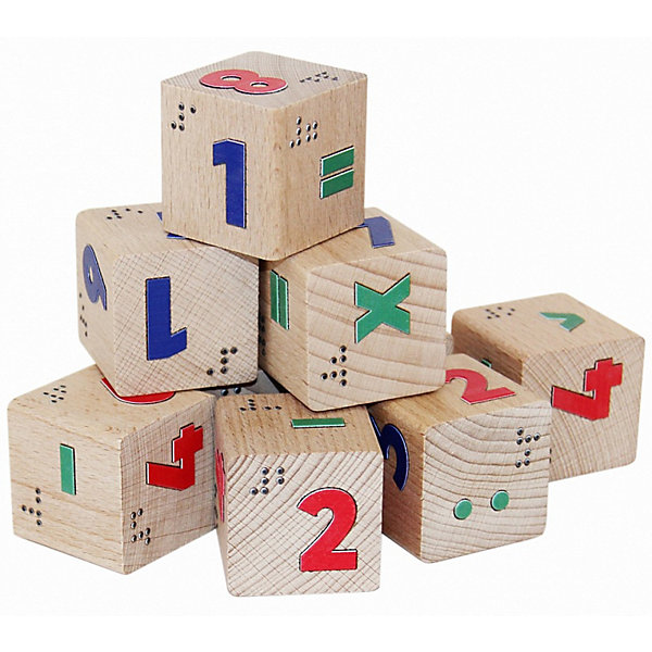 Краснокамская игрушка Кубики Цифры со шрифтом Брайля
