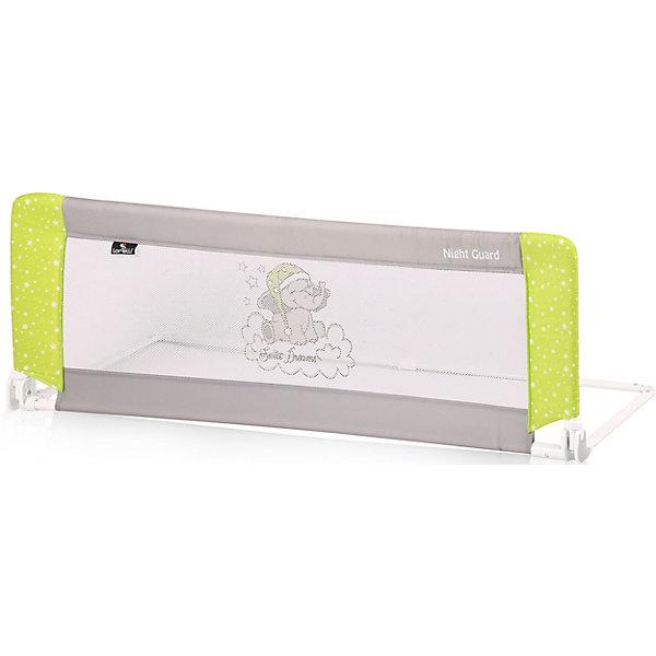 Защитный барьер для кроватки Lorelli Night Guard, зелено-серыйОграждения в кроватку<br>Характеристики:<br><br>• тип товара: барьер для кроватки<br>• размер: 120х45х43 см<br>• страна бренда: Болгария<br><br><br>Защитный барьер для кроватки служит для обеспечения безопасности ребенка во время сна. Изделие защищает от падения. Есть возможность регулировки в двух позициях. Устанавливается модель под матрац. Для удобства переноски предусмотрена сумочка.