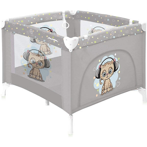 Манеж-кровать Lorelli Play station, серый