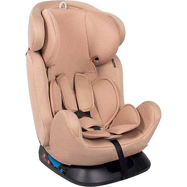 Автокресло Lorelli KX-27 Santorini 0-36 кг, бежевыйГруппа 0-1-2-3 (до 36 кг)<br>Характеристики:<br><br>• тип товара: автокресло <br>• материал: пластик, металл, текстиль<br>• вес ребенка: до 36 кг<br>• съемный чехол<br>• мягкий вкладыш под голову и на сиденье<br>• страна бренда: Болгария<br><br><br>Стильное автокресло отвечает европейскому стандарту безопасности. Универсальное кресло «растет» вместе с ребенком. Оно подходит к категории 1, 2, 3, что означает возможность посадить ребенка от 0 до 12 лет. В зависимости от возраста детей, кресло устанавливается определенным способом. Спинка модели фиксируется в трех положениях. Регулируется подголовник и ремни безопасности. На них есть мягкие накладки. Автокресло крепится ремнем безопасности автомобиля.