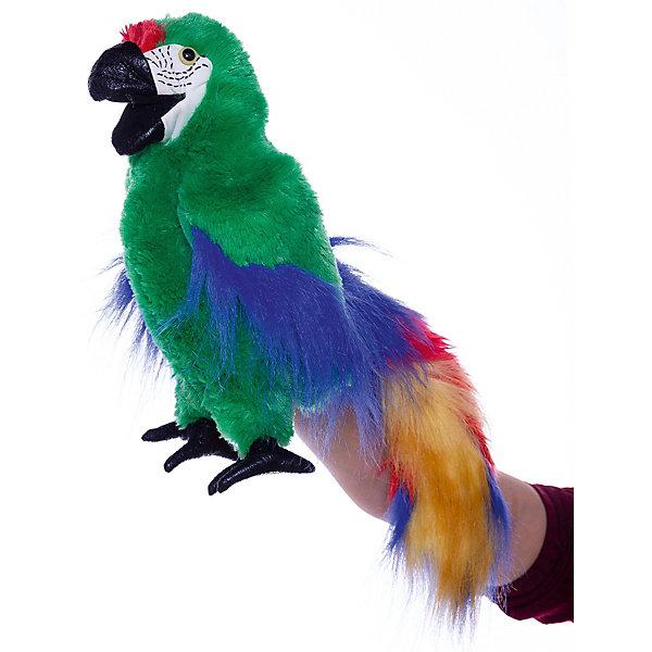 Купить Мягкая игрушка Folkmanis «Зеленый ара», 56 см, Китай, разноцветный, Унисекс