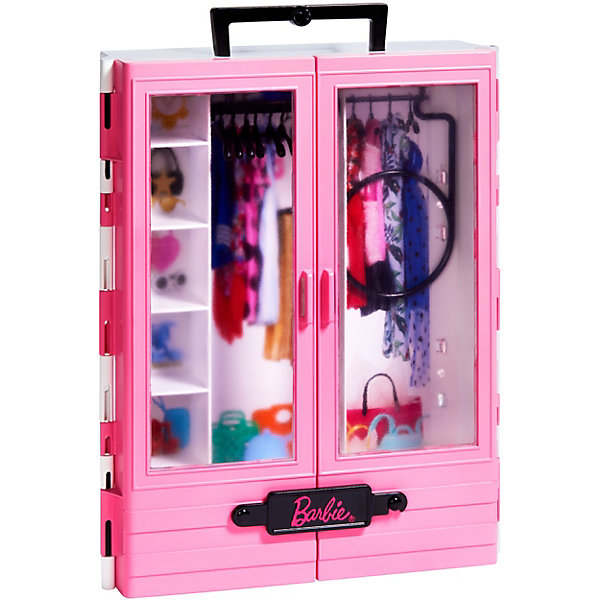 Mattel Игровой набор Barbie Розовый шкаф модницы