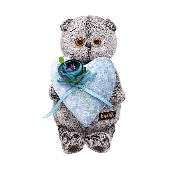 Budi Basa Мягкая игрушка Budi Basa Кот Басик с сердцем из бархата, 22 см цена