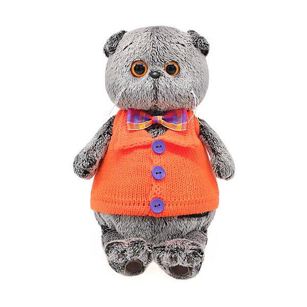 Budi Basa Мягкая игрушка Budi Basa Кот Басик в вязанном жилете, 22 см цена и фото