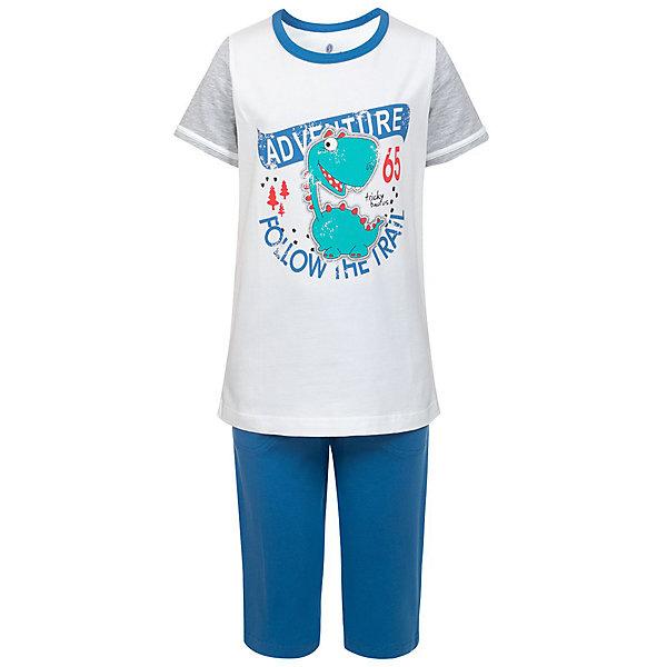 Пижама BaykarПижамы и сорочки<br>Характеристики:<br><br>• состав ткани: 95% хлопок, 5% эластан<br>• в комплекте: футболка, шорты<br>• сезон: круглый год<br>• страна бренда: Турция<br><br>Пижама с короткими рукавами. Ткань содержит высокое  содержание хлопка, хорошо впитывает влагу во время сна. Спереди футболку украшает большой рисунок.