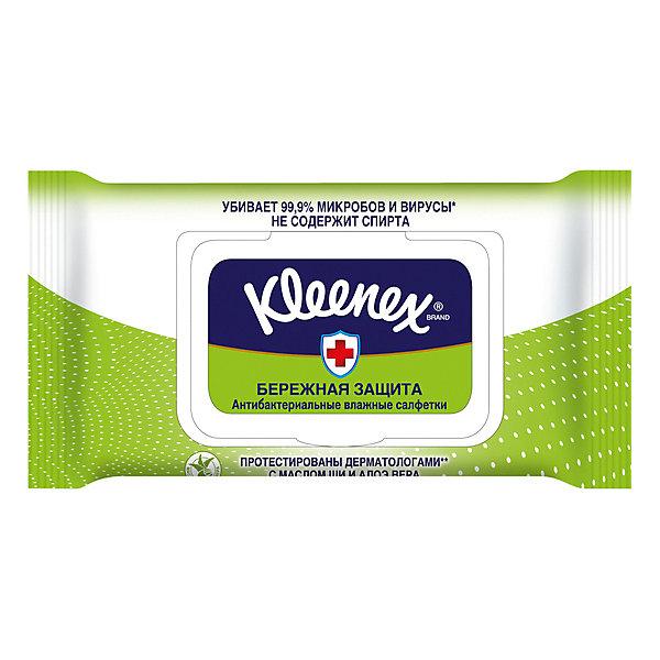цена Kleenex Влажные антибактериальные салфетки Kleenex «Семейные», 40 штук онлайн в 2017 году
