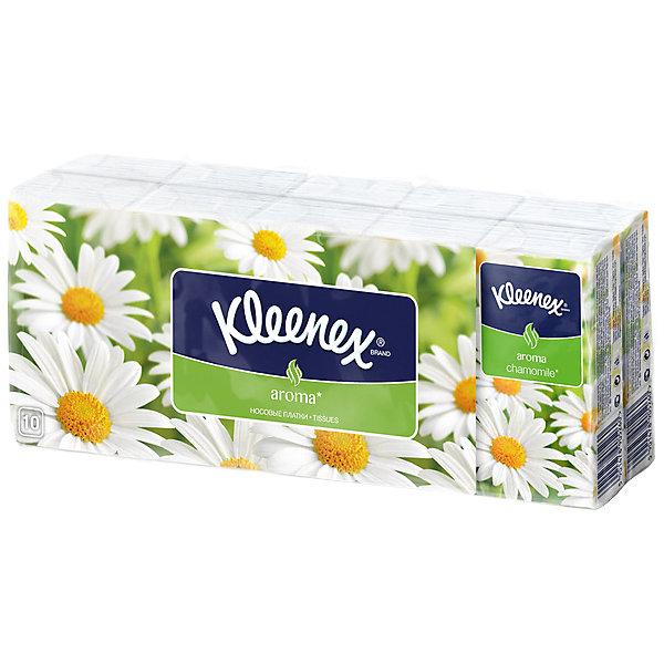 Kleenex Носовые платочки Chamomile, упаковка 10 штук