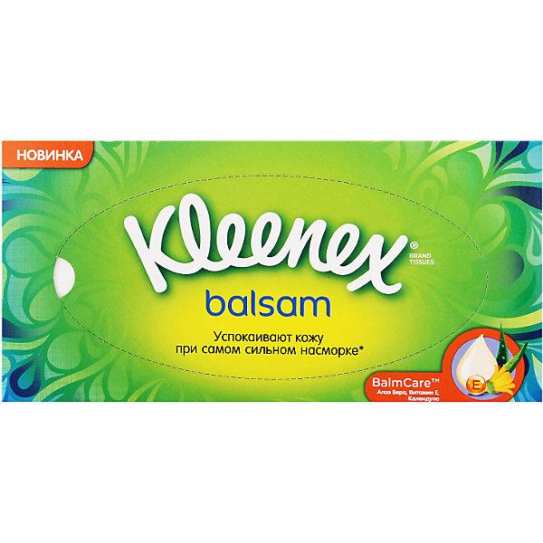 Салфетки Kleenex Balsam, 72 штуки, Франция, Унисекс  - купить со скидкой