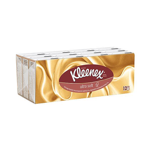 Купить Носовые платочки Kleenex Ultrasoft, упаковка 12 штук, Италия, разноцветный, Унисекс