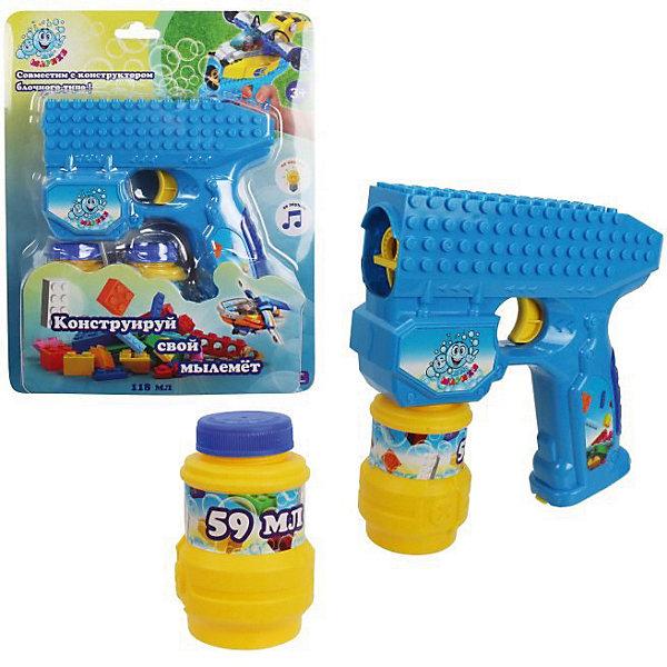 Купить Мыльные пузыри 1Toy Мы-шарики! , Пистолет на батарейках, 2 бутылочки по 59 мл, Китай, разноцветный, Унисекс