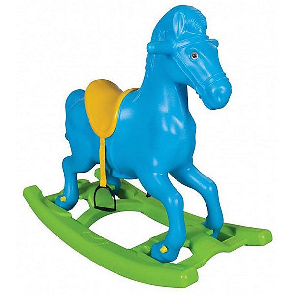 Pilsan Качалка Pilsan Windy Horse Лошадка, со стременами, голубая
