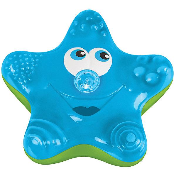 Игрушка для ванны Munchkin Звёздочка, голубаяИгрушки для ванной<br>Характеристики:<br><br>• материал: пластик<br>• работает от 3 батареек типа ААА<br>• Батарейки в комплект не входят<br><br>Звездочка-фонтан разнообразит купание малыша. Игрушка воспроизводит вращающиеся движения, не тонет. Носик голубого цвета подает струйки воды, которые приводят малыша в восторг.