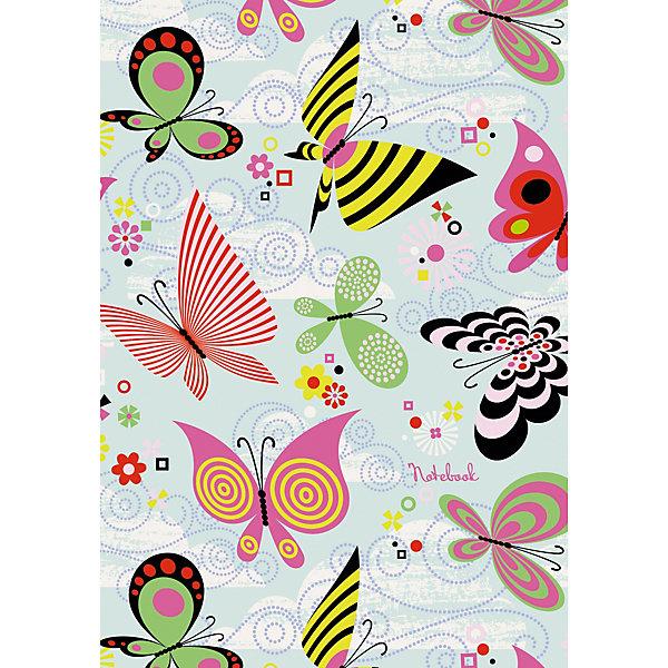 Книга для записей  «Канц-Эксмо» Пестрые бабочкиБлокноты и ежедневники<br>Характеристики:<br><br>• количество листов: 48<br>• обложка: поролон, матовая ламинация, лакирование<br>• формат: А6<br>• форзацы: цветные<br>• бумага: офсетная<br>• плотность бумаги: 70 г/кв. м<br><br><br>Мягкая обложка позволит записной книжке комфортно разместиться в ваших руках. Внутри – нежные страницы с цветочным орнаментом, которые прекрасно впишутся в будни романтичных натур.