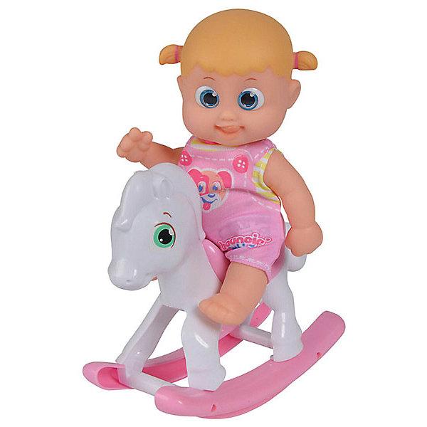 Bouncin Babies Интерактивная кукла Кукла Бони, с лошадкой-качалкой, 16 см