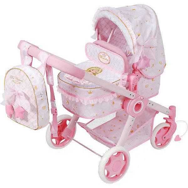 Купить Коляска-трансформер для кукол 3 в 1 серии Мария, 70 см, DeCuevas, Испания, розовый/белый, Женский