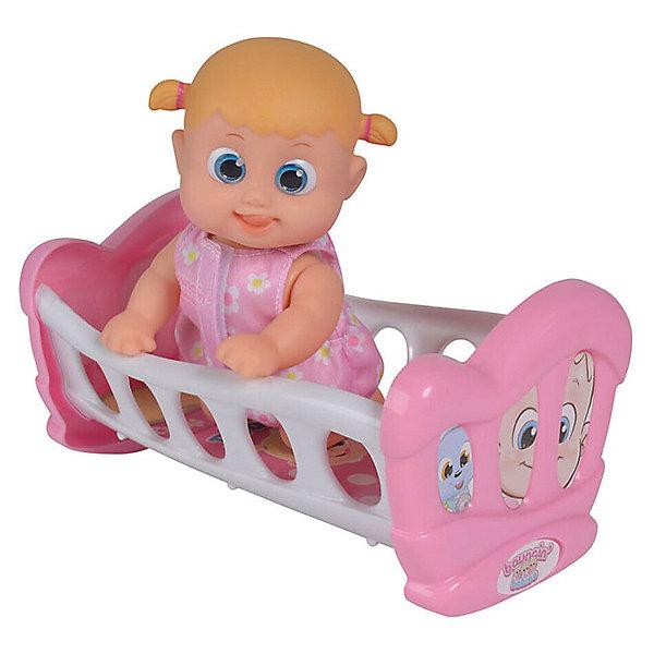 Купить Интерактивная кукла Bouncin' Babies Кукла Бони , с кроваткой, 16 см, Китай, Женский