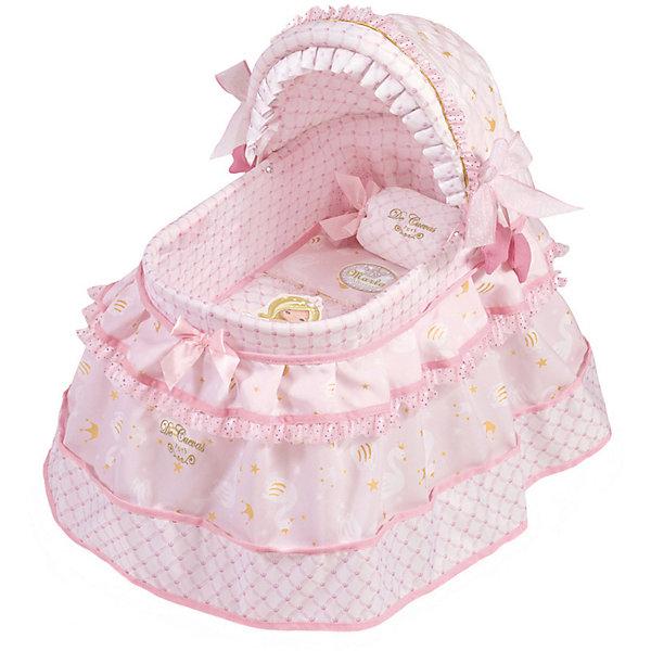 Купить Кроватка для кукол DeCuevas Мария с козырьком, 46 см, Испания, розовый/белый, Женский