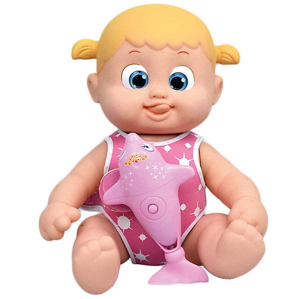 Bouncin' Babies Интерактивная кукла Bouncin' Babies Кукла Бони, плавающая с дельфином, 35 см bouncin babies бони с кроваткой разноцветный