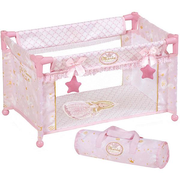 Купить Манеж-кроватка для кукол DeCuevas Мария , 50 см, Испания, розовый/белый, Женский