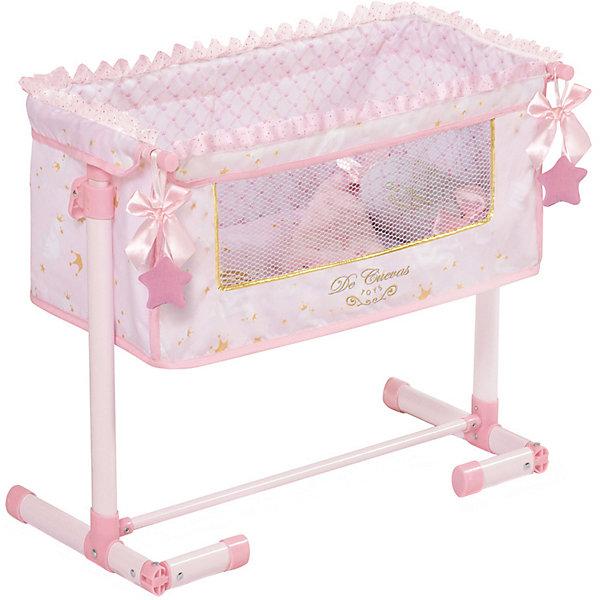 Купить Кроватка для кукол DeCuevas Мария , 50 см, Испания, розовый/белый, Женский