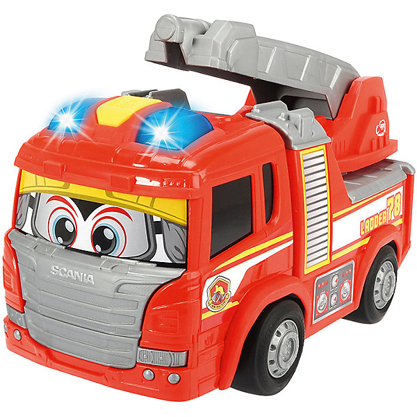 Dickie Toys Пожарнаая машина Dickie Toys Happy свет, звук, 25 см dickie toys игровой набор dickie toys побег из тюрьмы свет звук