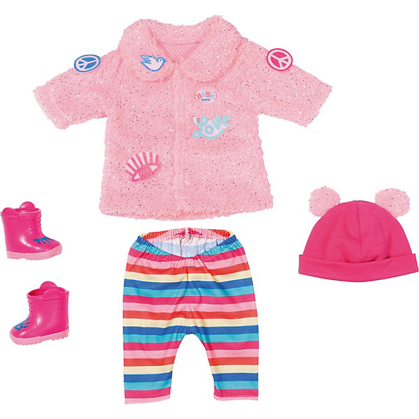 Zapf Creation Одежда зимняя для модниц Zapf creation Baby born simba набор для кормления пупса new born baby цвет голубой