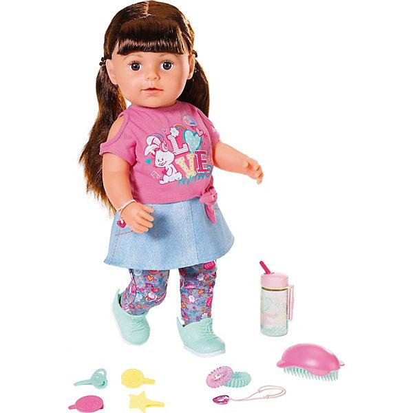Zapf Creation Интерактивная кукла Zapf Creation Baby born Сестричка брюнетка, 43 см