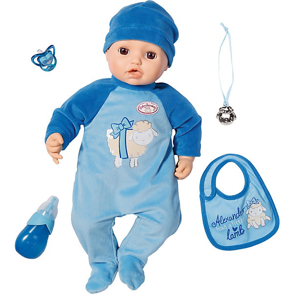 Zapf Creation Многофункциональная кукла-мальчик Zapf Creation Baby Annabell, 43 см кукла весна мальчик 43 см в3147