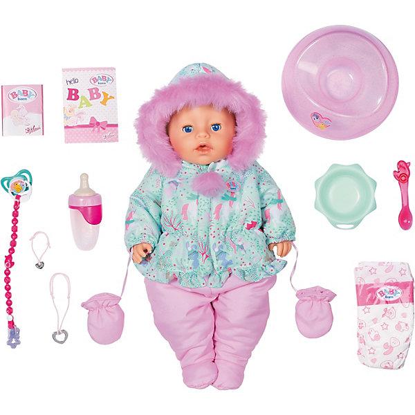 Zapf Creation Игрушка BABY born Кукла Интерактивная Зимняя, 43 см, кор. simba набор для кормления пупса new born baby цвет голубой