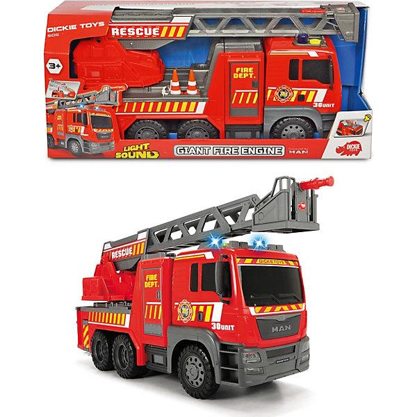Dickie Toys Пожарная машина Dickie Toys MAN, 54 см, свет и звук машины daesung модель машина пожарная 404